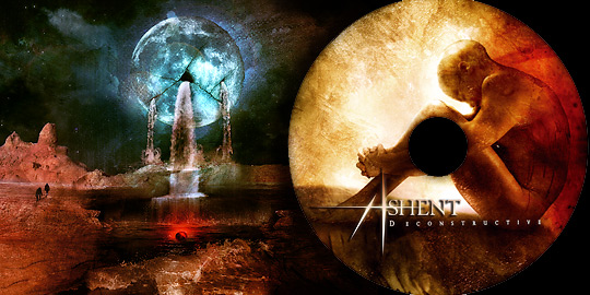 "Ashent - ""Deconstructive"" CD image & inlay"