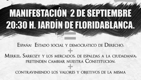 No a la reforma Constitucional Murcia