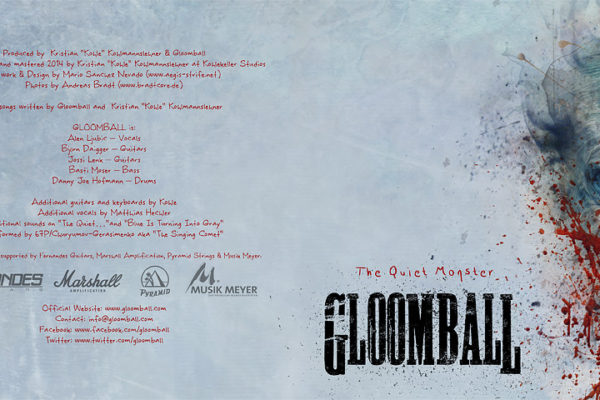 Gloomball - The quiet monster booklet design 0