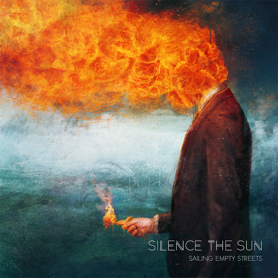 Silence the Sun - Sailing empty street CD cover artwork by Mario Sanchez Nevado