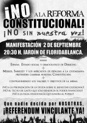 ¡No a la Reforma Constitucional!