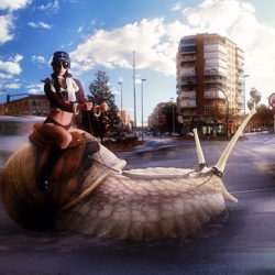 Photoshop Tutorial: Snail Racer Photomanipulation