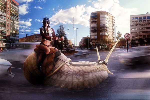 Photoshop tutorial: Snail Racing by Mario S. Nevado