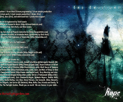 The Twilight Garden CD album packaging - Cover