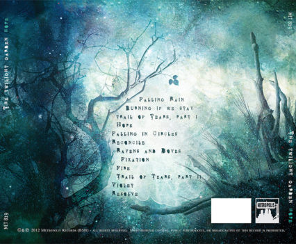 The Twilight Garden CD album packaging - Back