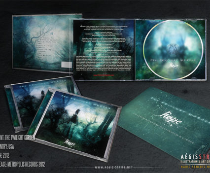 The Twilight Garden - CD packaging mockup