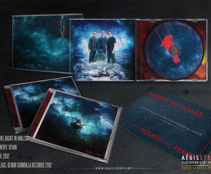 Night in Wales: Doubts and Fears CD packaging mockup