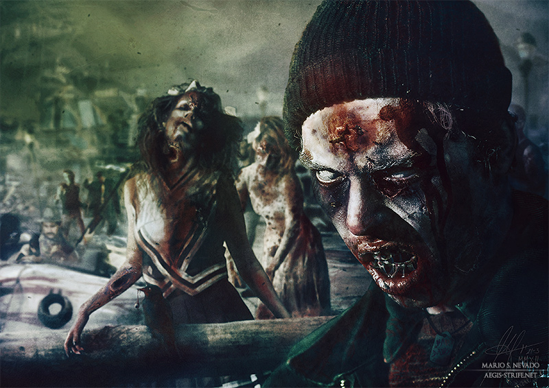 Prom Night: Zombie illustration for The Zombook by Mario S. Nevado