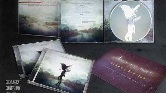 Ashent: Flaws of Elation CD packaging by Mario S. Nevado