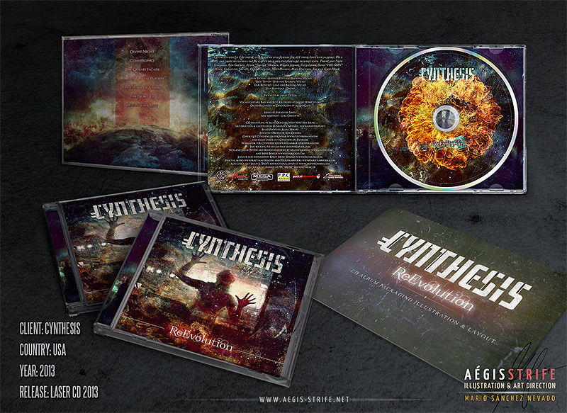 Cynthesis ReEvolution CD packaging mockup