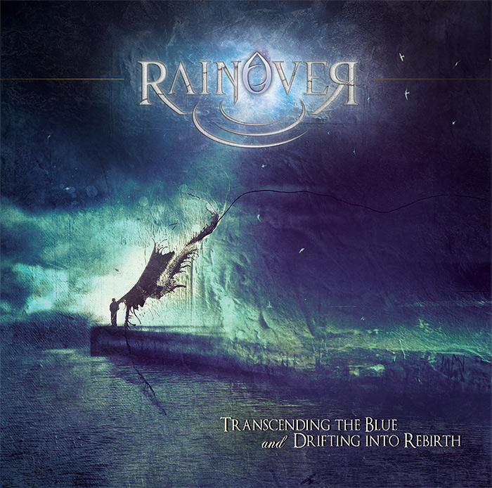 Rainover - Trascending the blue and drifting into rebirth CD cover artwork by Mario Sanchez Nevado