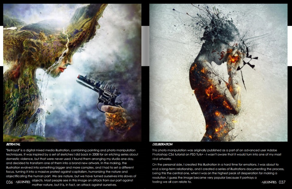 Visual artistry magazine featuring Mario Nevado