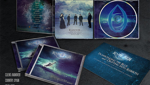 Rainover - Trascending the blue CD packaging design