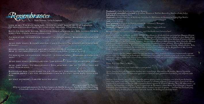 Rainover - Trascending the blue CD packaging design booklet #4