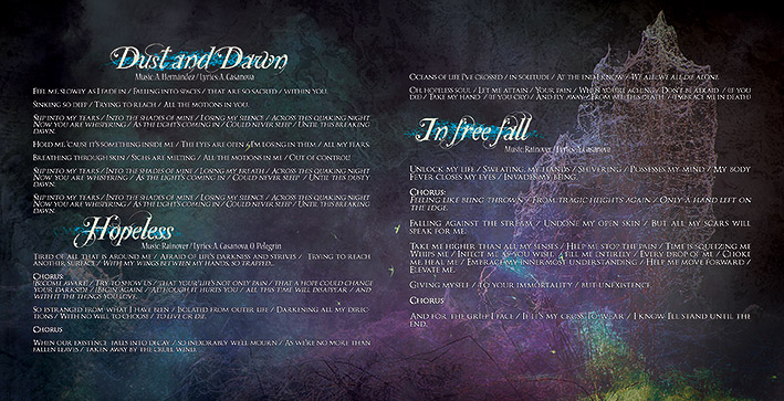 Rainover - Trascending the blue CD packaging design booklet #3