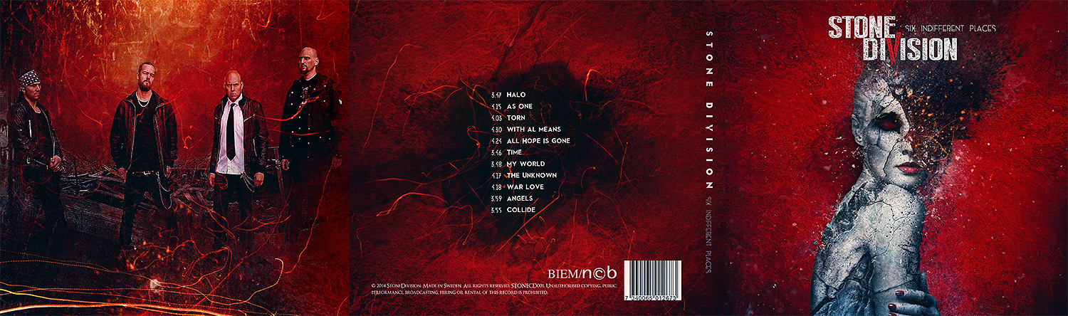 Stone Division - 6 indifferent places CD design #1
