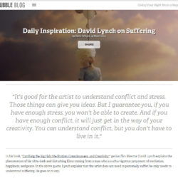 Little feature about David Lynch!