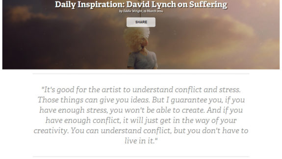 David Lynch on suffering with Mario S. Nevado