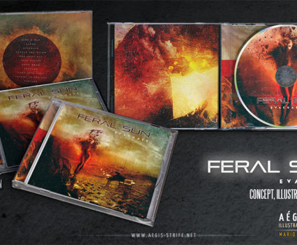 Feral Sun- Evacuate CD Packaging design