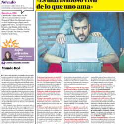 Interview for La Opinión de Murcia newspaper