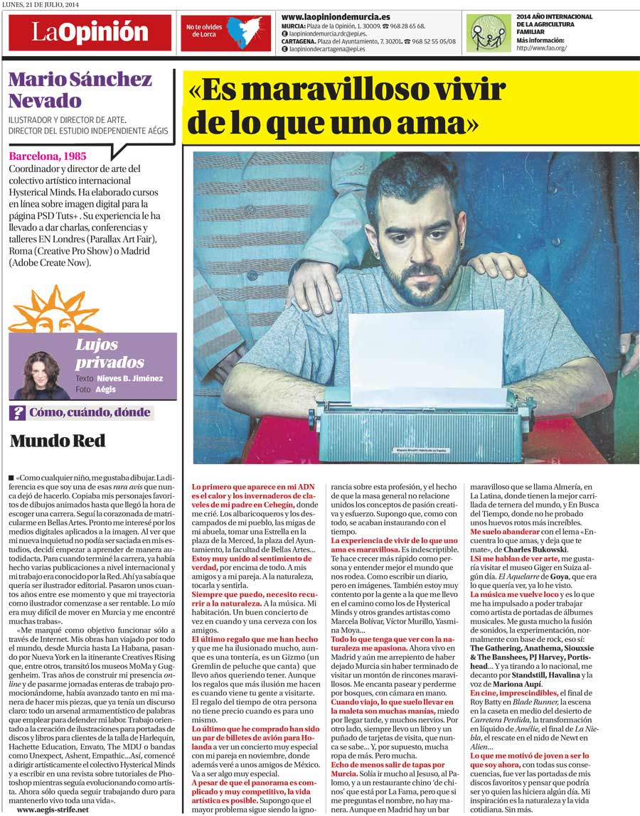 La Opinion newspaper interview