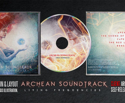 Archean Soundtrack CD album design by Mario Sánchez Nevado