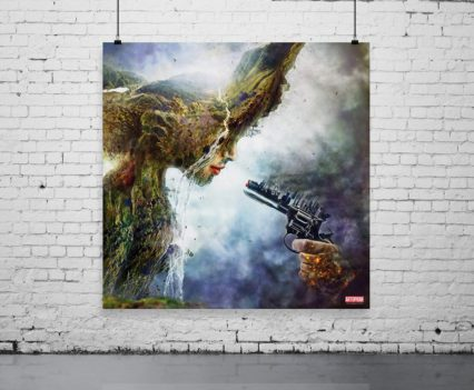 Betrayal fine art canvas by Mario Nevado