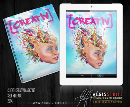 Creativ Magazine cover artwork by Mario Sánchez Nevado