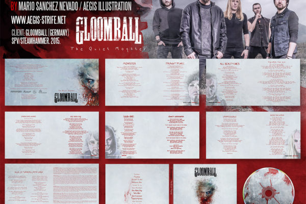 Gloomball CD packaging design