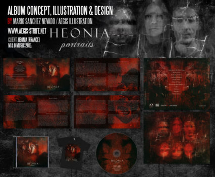 Heonia full album design by Aégis Illustration