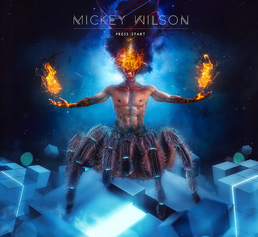 Mickey Wilson - Press Start cover artwork by Mario Sanchez Nevado