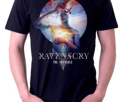 Ravenscry - The Invisible T-shirt design by Mario Sánchez Nevado