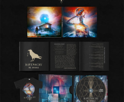 Ravenscry - The Invisible album design by Mario Sánchez Nevado