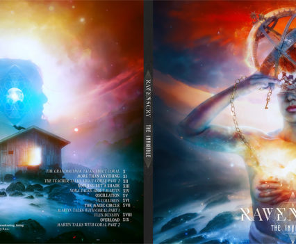 Ravenscry - The Invisible digipack design by Mario Sánchez Nevado