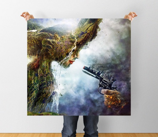 Betrayal: A Global Warming Illustration - Square print poster